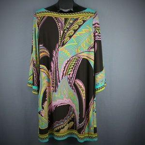 Beige by Eci Womens Dress Size 4 Paisley Womens